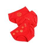 男士内裤大红色本命年女士中腰内裤2