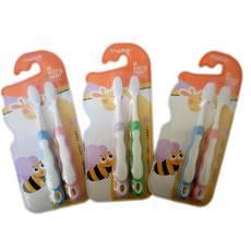 卡洁儿童牙刷3-12岁软毛 两支装保护牙龈抗菌细毛卡通牙刷637