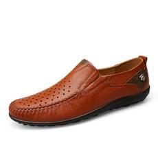小童马2018皮男鞋皮鞋黑色定制夏季真皮圆头男鞋平跟男皮鞋低帮鞋