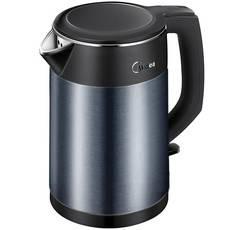 美的/MIDEA  电热水壶双层防烫家用烧水壶HJ1511a食品接触304不锈钢一体无缝1.5L