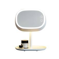 莱克(LEXY) 吉米台式化妆镜LM301带灯便携折叠公主梳妆镜书桌台面LED